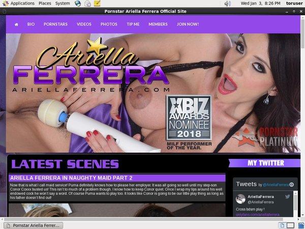 Ariella Ferrera Free Memberships