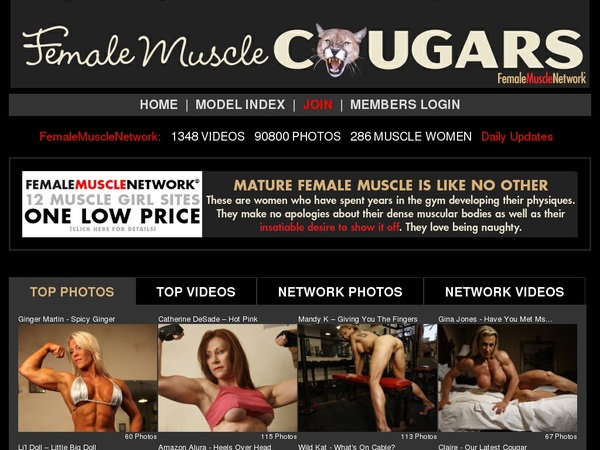 Female Muscle Cougars Login Free