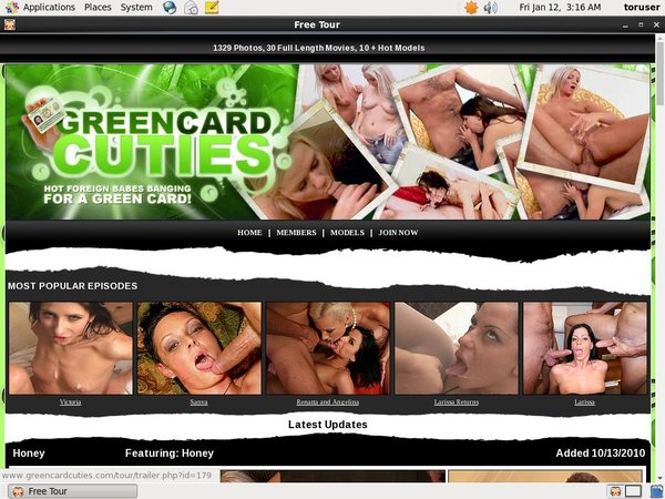 Green Card Cuties Sign Up Form