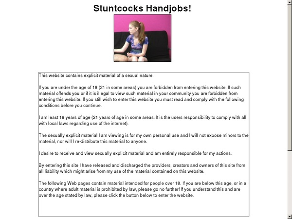 Stuntcockshandjobs Access