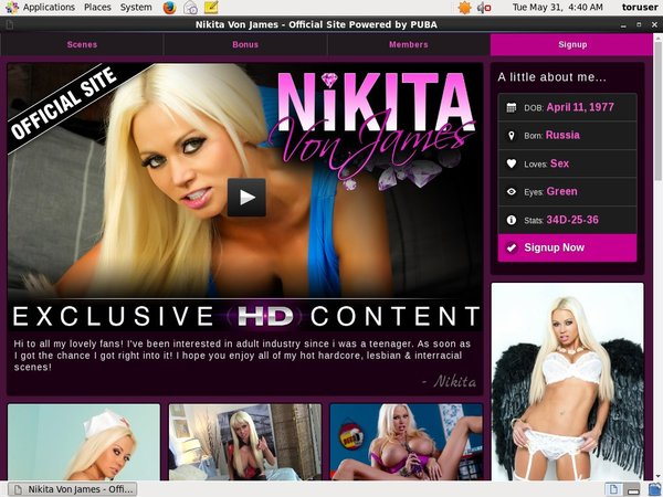 Nikita Von James Free Memberships