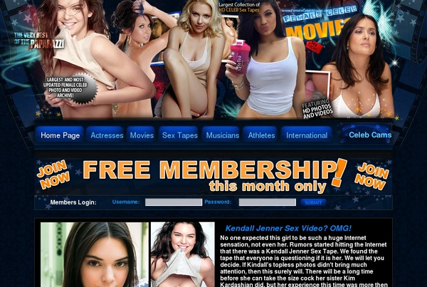 Female Stars Free Passwords