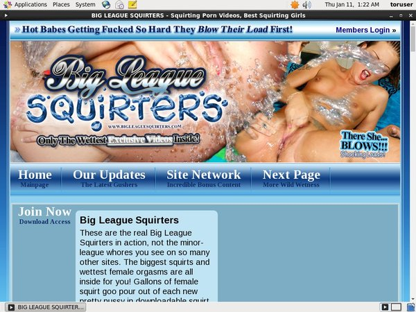 Big League Squirters Girls