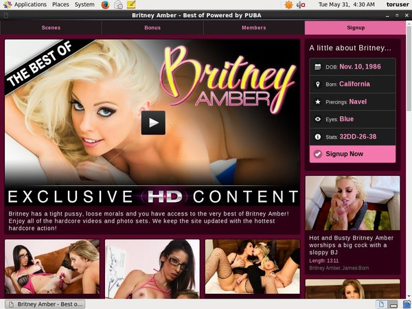 Real Britney Amber Accounts