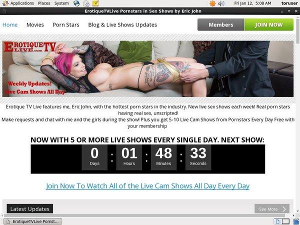 Erotique TV Site Discount