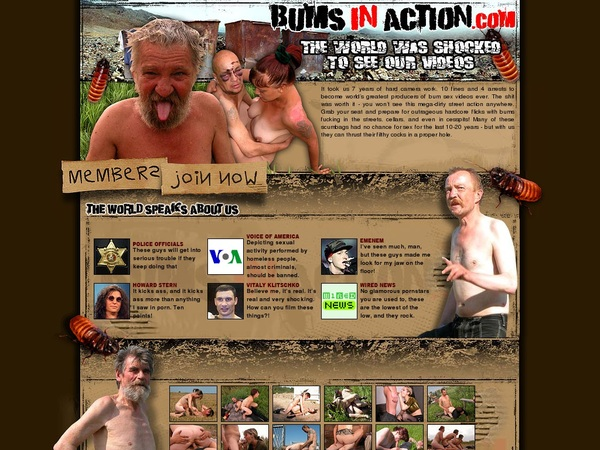Bums In Action User And Password