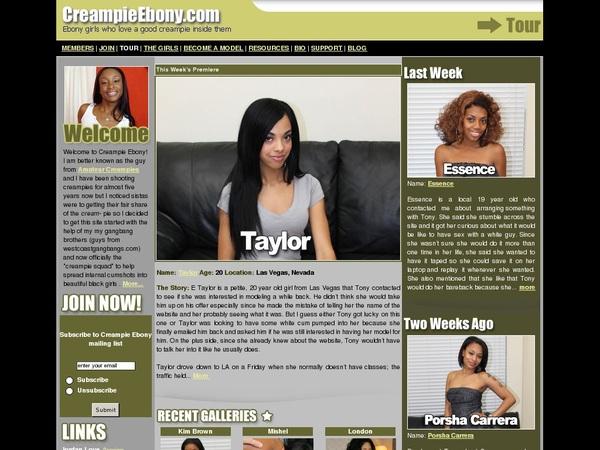 Creampie Ebony Free Passes